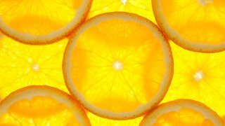 Slices of oranges