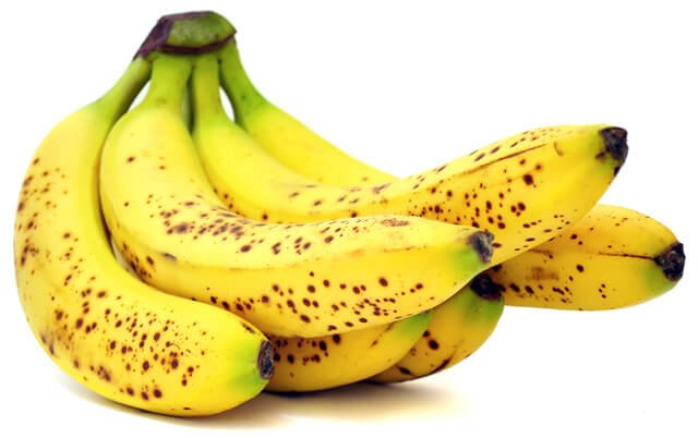 Bananas with spots