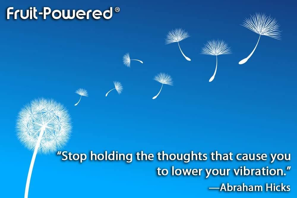 Stop holding the thoughts that cause you to lower your vibration.
