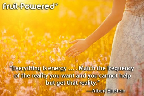 Everything is energy … . Match the frequency of the reality you want and you cannot help but get that reality.