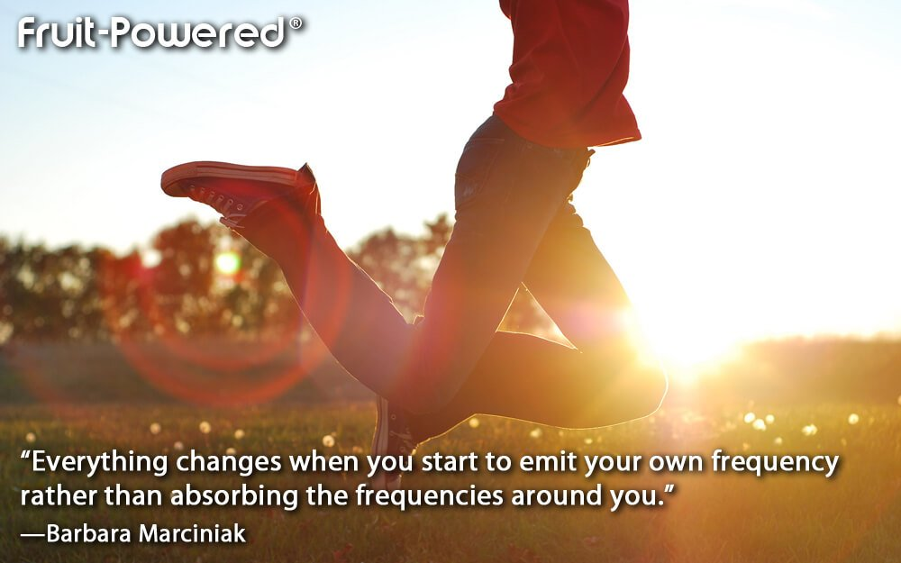 Everything changes when you start to emit your own frequency rather than absorbing the frequencies around you