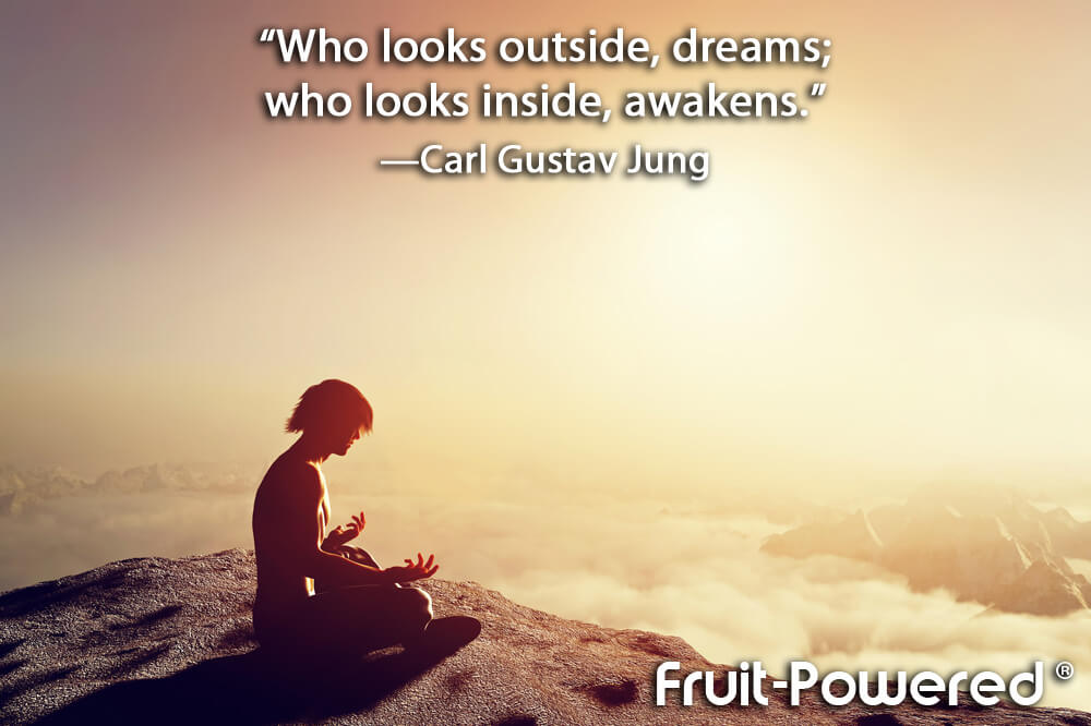 Who looks outside, dreams; who looks inside, awakens.