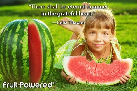 There shall be eternal summer in the grateful heart.