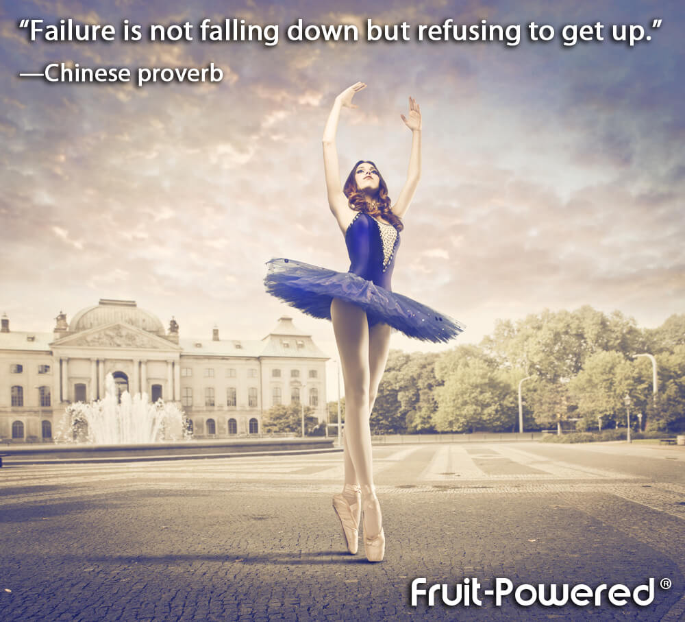 """Failure is not falling down but refusing to get up."""