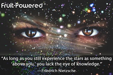 As long as you still experience the stars as something 'above you,' you lack the eye of knowledge.