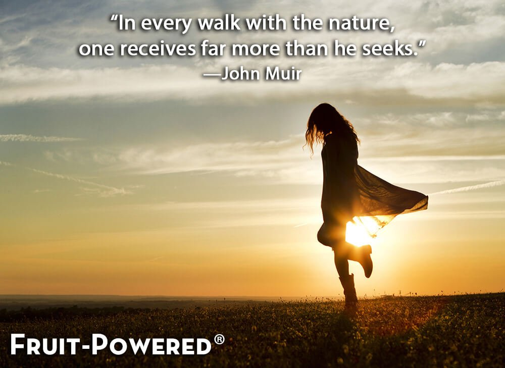 In every walk with the nature, one receives far more than he seeks.