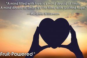 A mind filled with love is a mind devoid of limits. A mind devoid of limits is a life filled with justified hope.