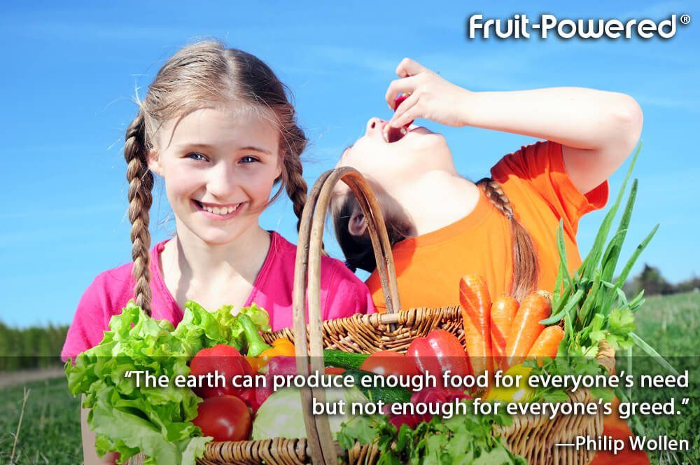 The earth can produce enough food for everyone's need but not enough for everyone's greed.