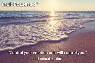 Control your emotion or it will control you.