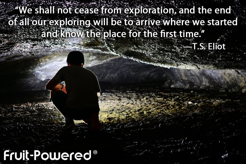 We shall not cease from exploration, and the end of all our exploring will be to arrive where we started and know the place for the first time