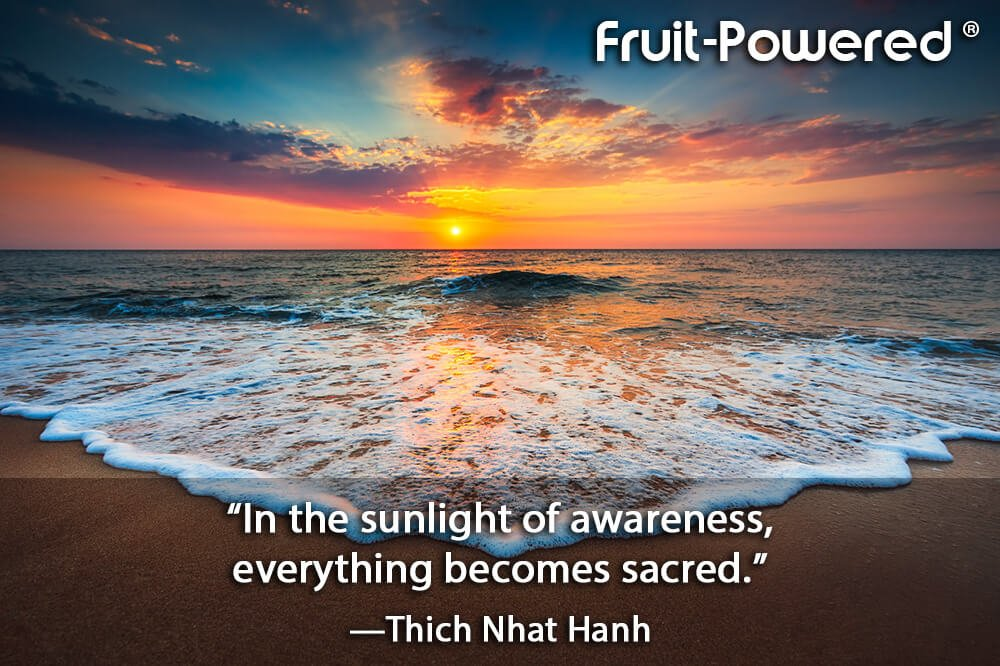 In the sunlight of awareness, everything becomes sacred.