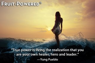 Inspirational quotes - True power is living the realization that you are your own healer, hero and leader.