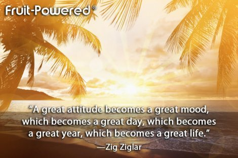 A great attitude becomes a great mood, which becomes a great day, which becomes a great year, which becomes a great life.