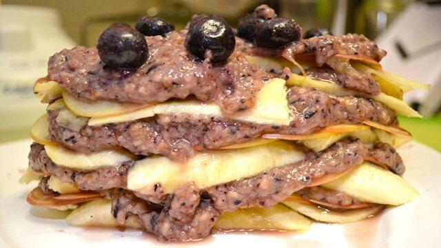 Banana Tower Raw Pie