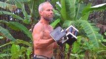 Charlie Abel lifting dumbbells - raw vegan bodybuilder - Fruit-Powered