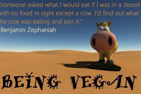 Being Vegan poster featuring Benjamin Zephaniah