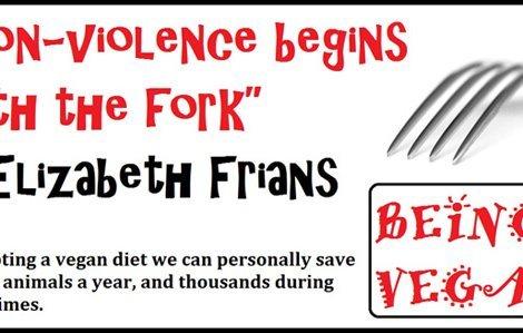 Being Vegan poster featuring Elizabeth Frians