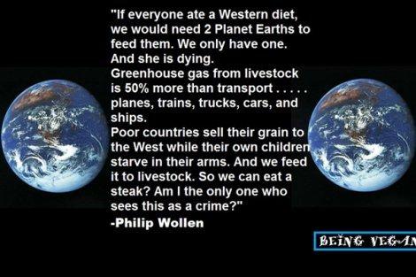 Being Vegan poster featuring Philip Wollen