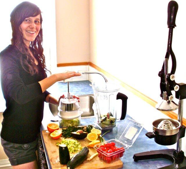 Tarah Millen prepares a recipe