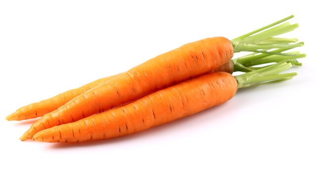 Carrots against white background