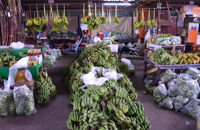 A bananas stall at Muang Mai Market in Chiang Mai, Thailand