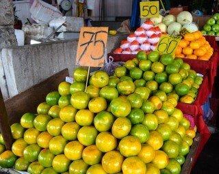 Citrus stacked at Muang Mai Market in Chiang Mai, Thailand