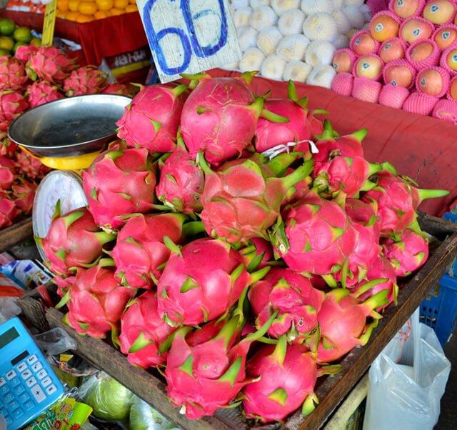 Dragon fruit at Muang Mai Market in Chiang Mai, Thailand