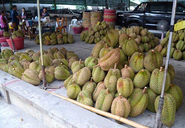 Durian at Muang Mai Market in Chiang Mai, Thailand