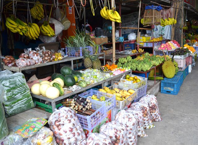 Jackfruit and many more fruits at Muang Mai Market in Chiang Mai, Thailand