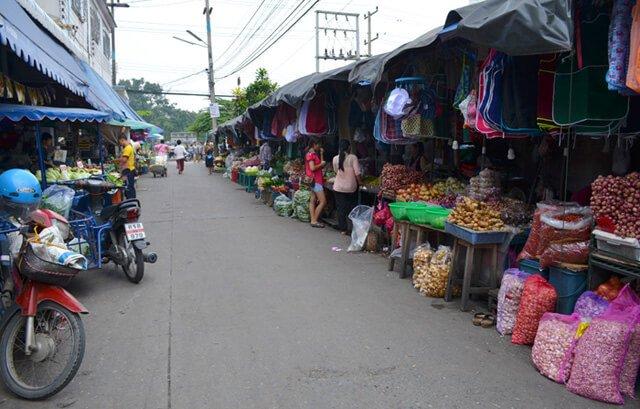 A pathway at Muang Mai Market in Chiang Mai, Thailand