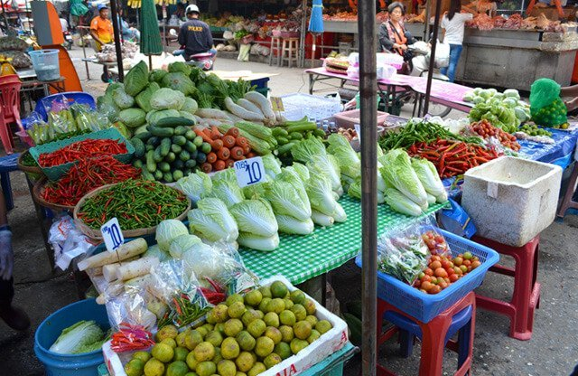 Vegetables aplenty at Muang Mai Market in Chiang Mai, Thailand