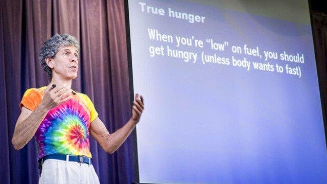 Don Bennett delivering a presentation at The Woodstock Fruit Festival in 2013