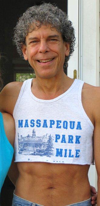 Don Bennett wears a half-tank top