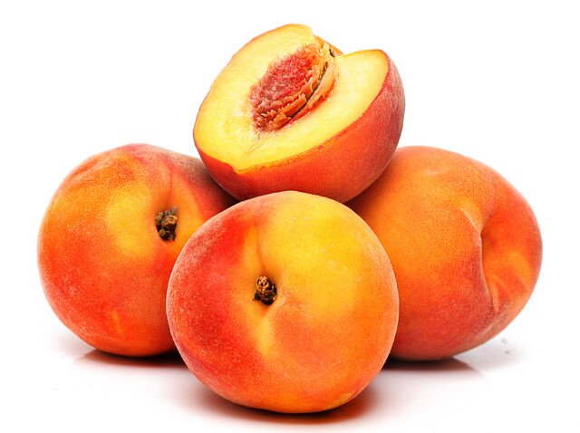 A bunch of peaches