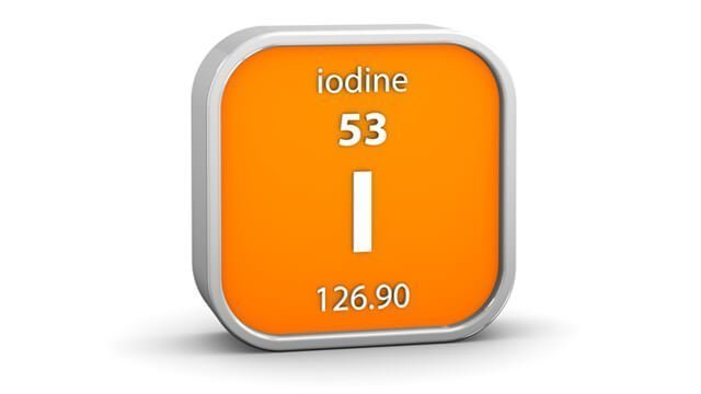 Iodine in the periodic table