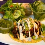 Southwest Mexican Taco Plate at Raw Can Roll Café
