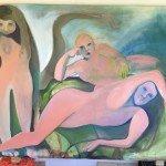 Three Dames painting by Jessica Thim