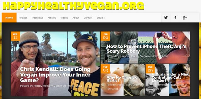 HappyHealthyVegan.org screenshot
