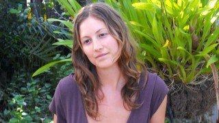 Julie Kersey posing in a garden