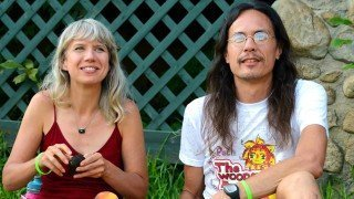 Happy Healthy Vegan's Ryan Lum and Anji Bee at the Woodstock Fruit Festival in 2013