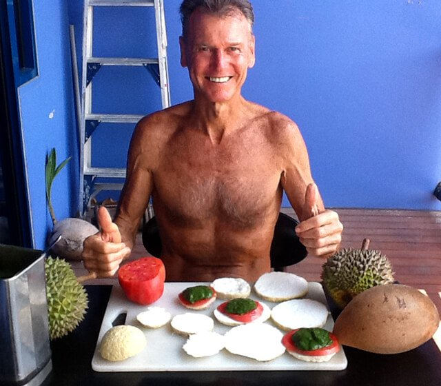 Robert Lockhart making Green Smoothie with Sprouted Coconut