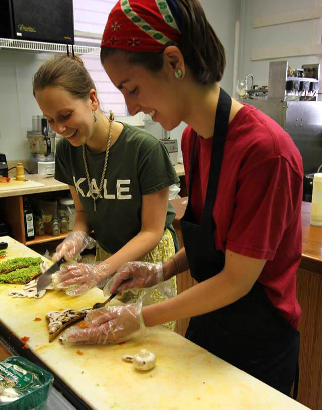 Nucleus Raw Foods chefs Keri Venarchick and Kamri Jacobs