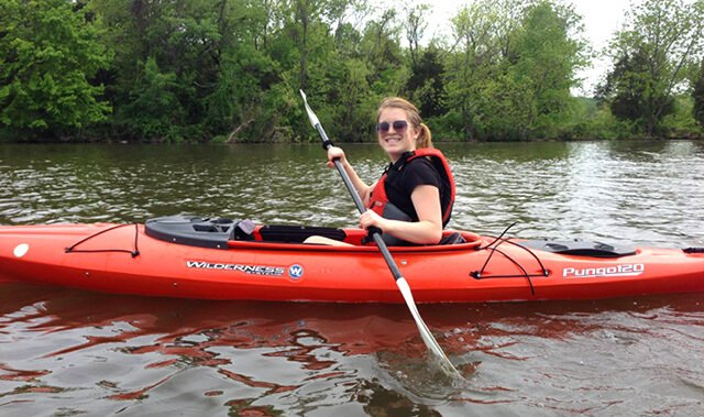 Stephanie Kent kayaks
