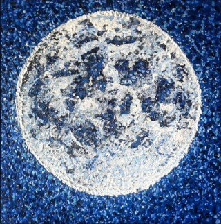 Painting of the moon by Tarah Millen