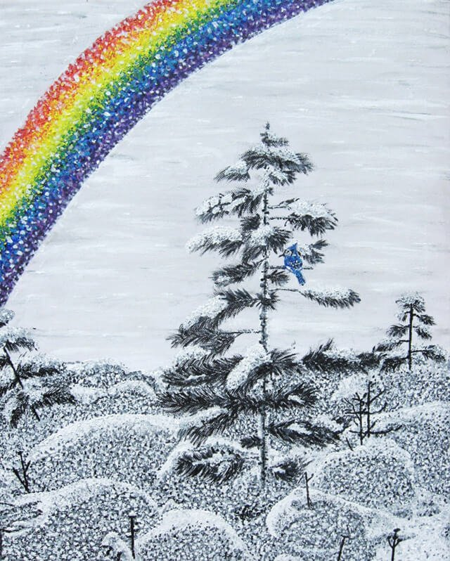 Painting of a rainbow by Tarah Millen