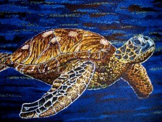 Painting of a turtle by Tarah Millen