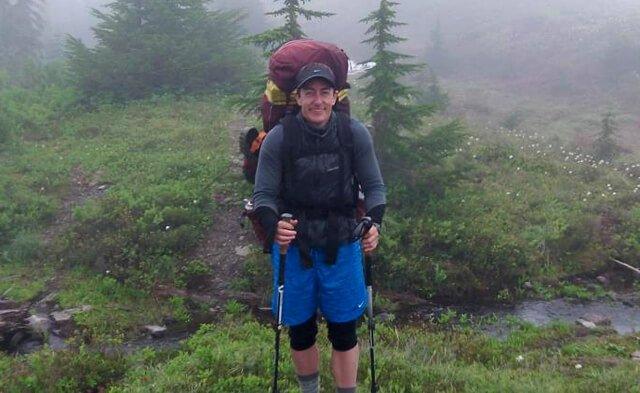 Victor VanRambutan enjoys time in nature backpacking