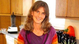 Ellen Livingston photographed in a kitchen