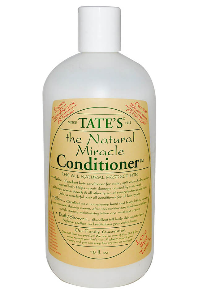 Front label of Tate's conditioner