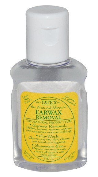 Front label of Tate's earwax removal